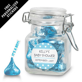 Baby Shower Personalized Latch Jar Polka Dot (12 Pack)