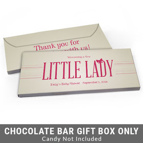 Deluxe Personalized Little Lady Baby Shower Candy Bar Favor Box