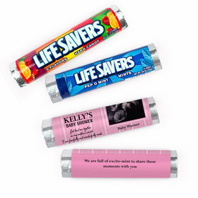 Personalized Baby Shower First Peek Photo Lifesavers Rolls (20 Rolls)