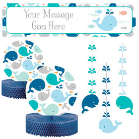 Baby Shower Decorating Kit - Baby Whale Blue
