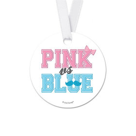 Personalized NAME Baby Shower Round Favor Gift Tags (20 Pack)