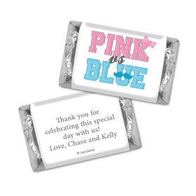 Gender Reveal Baby Shower Banners Personalized Hershey's Miniatures