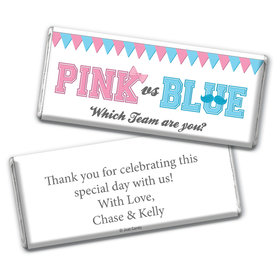 Gender Reveal Baby Shower Banners Personalized Chocolate Bar