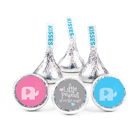 Gender Reveal Baby Shower Baby Elephants Hershey's Kisses