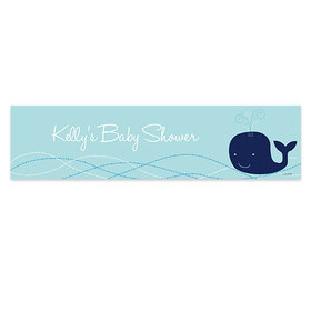 Personalized Whale Baby Shower 5 Ft. Banner