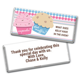 Gender Reveal Baby Shower Cupcakes Personalized Chocolate Bar