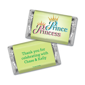 Gender Reveal Prince or Princess Personalized Hershey's Miniatures Wrappers