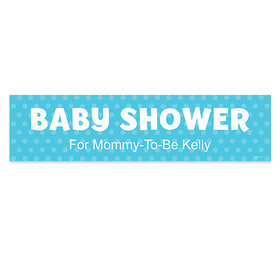 Personalized Baby Shower Polka Dots Banner