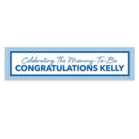 Personalized Baby Shower Checker Pattern 5 Ft. Banner