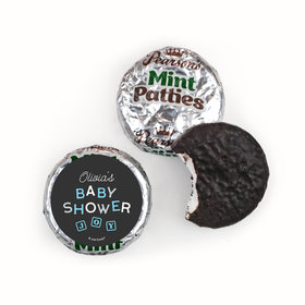 Personalized Pearson's Mint Patties- Baby Shower Tiny Joy