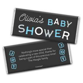Baby Shower Personalized Chocolate Bar Tiny Joy