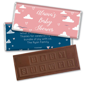 Baby Shower Personalized Embossed Chocolate Bar Cuddly Clouds