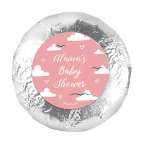 """Personalized Cuddly Clouds Baby Shower 1.25"""" Stickers (48 Stickers)"""