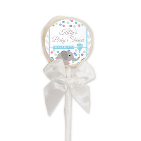 Baby Shower Personalized Lollipop Chevron Dots (24 Pack)