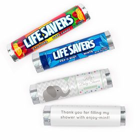 Personalized Baby Shower Ellariffic Lifesavers Rolls (20 Rolls)