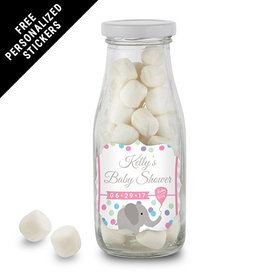Baby Shower Personalized Milk Bottle Chevron Dots (12 Pack)