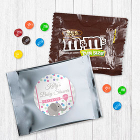 Personalized Baby Shower Elephant Dots Mlk Chocolate M&Ms