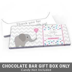 Deluxe Personalized Chevron Elephant Baby Shower Candy Bar Cover