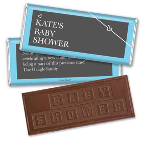 Baby Shower Personalized Embossed Chocolate Bar Greatest Gift