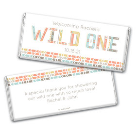 Here Comes the Wild One Personalized Chocolate Bar Wrappers