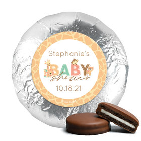 Personalized Safari Snuggles Baby Shower Milk Chocolate Covered Oreos