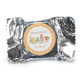 Personalized Safari Snuggles Baby Shower York Peppermint Patties