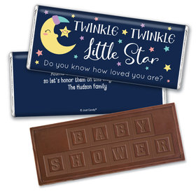 Baby Shower Personalized Embossed Chocolate Bar Little Star