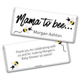 Here Comes the Mama to Bee Personalized Chocolate Bar Wrappers