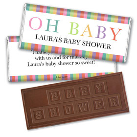 Baby Shower Personalized Embossed Chocolate Bar Happy Baby