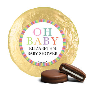 Personalized Happy Baby Baby Shower Milk Chocolate Covered Oreos