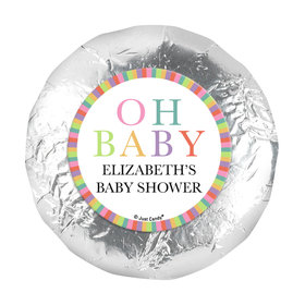 "Personalized Happy Baby Baby Shower 1.25"" Stickers (48 Stickers)"