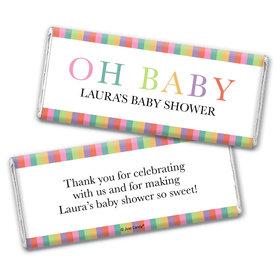 Here Comes the Happy Baby Personalized Chocolate Bar Wrappers