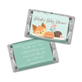 Here Comes the Woodland Buddies Personalized Miniature Wrappers