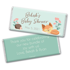 Baby Shower Personalized Chocolate Bar Woodland Buddies