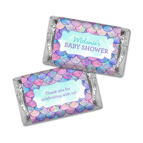 Personalized Baby Shower Mermaid Miniature Wrappers