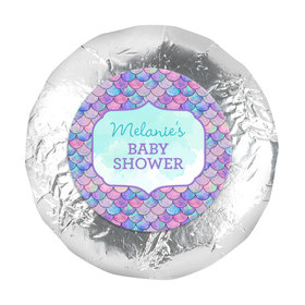 Personalized Mermaid Baby Shower 1.25in Stickers (48 Stickers)