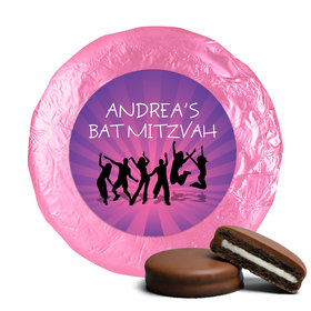 Bat Mitzvah Dance Milk Chocolate Covered Oreo Cookies Assembled (24 Pack)