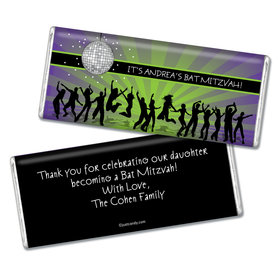 Bat Mitzvah Personalized Chocolate Bar Disco Dance