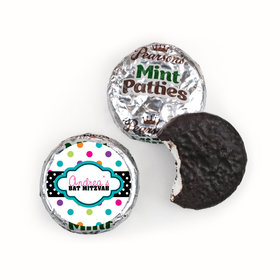 Bat Mitzvah Personalized Pearson's Mint Patties Polka Dot Candy Shoppe