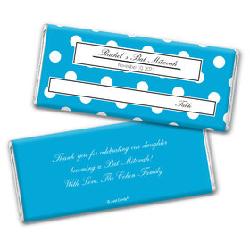 Seated with Dots Personalized Candy Bar - Wrapper Only