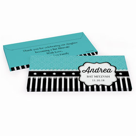 Deluxe Personalized Lace Bat Mitzvah Chocolate Bar in Gift Box