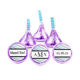 Personalized Bat Mitzvah Monogram Hershey's Kisses (50 pack)
