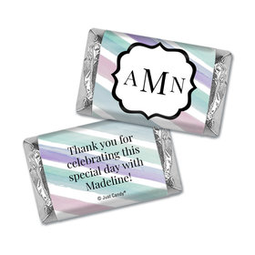 Personalized Monogram Bat Mitzvah Hershey's Miniatures Wrappers