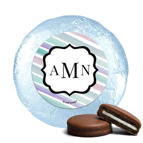 Personalized Bat Mitzvah Monogram Chocolate Covered Oreos Cookies (24 Pack)