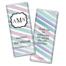Personalized Bat Mitzvah Monogram Chocolate Bar