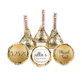 Personalized Bat Mitzvah Golden Day Hershey's Kisses (50 pack)