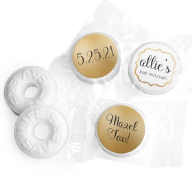 Personalized Bat Mitzvah Golden Day Life Savers Mints