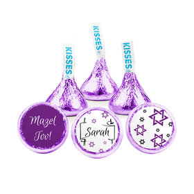 Personalized Bat Mitzvah Scroll & Stars Hershey's Kisses (50 pack)