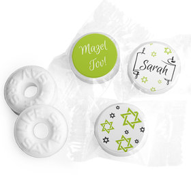 Personalized Scroll & Stars Bat Mitzvah Life Savers Mints