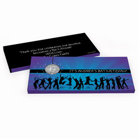 Deluxe Personalized Disco Dance Bat Mitzvah Chocolate Bar in Gift Box